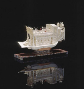 Chinese Flower Boat ship model