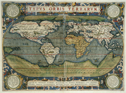 G1015.O77cO Theatrum Orbis Terrarum (Theater of the World), 1596 by Abraham Ortelius, 1527-1598.