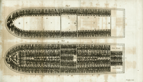 """Tight Packing"" from the rare book, ""The History of the Rise, Progress, and Accomplishment of the Abolition of the Africa Slave-Trade by the British Parliament, 1808"" by Thomas Clarkson."