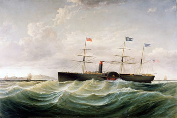 Painting, Steamship Baltic Off Holyhead by Samuel Walters