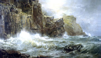 Painting, Coast of Cornwall by William Trost Richards