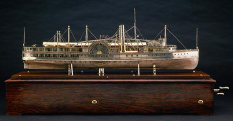 Steamboat Commonwealth ship model