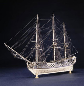 Prisoner-of-war ship model