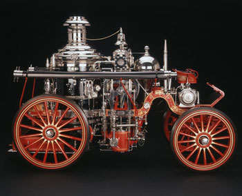 Horse-Drawn steam fire engine, 1904