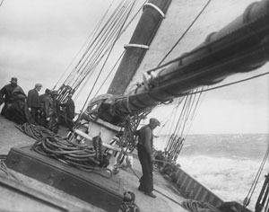 On the Deck of the Schooner by Edwin Levick