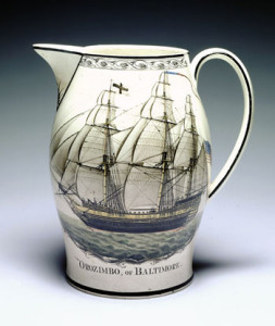 Liverpool Creamware Pitcher, Orozimba of Baltimore