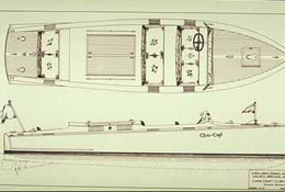 Boat plans of a Chris-Craft