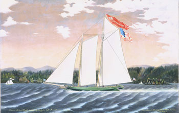 Painting, Schooner Robert Knapp by James Bard