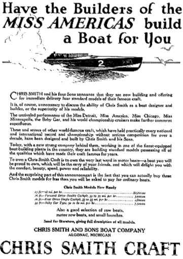 Chris-Craft advertisement