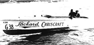 The Chris-Craft runabout Packard