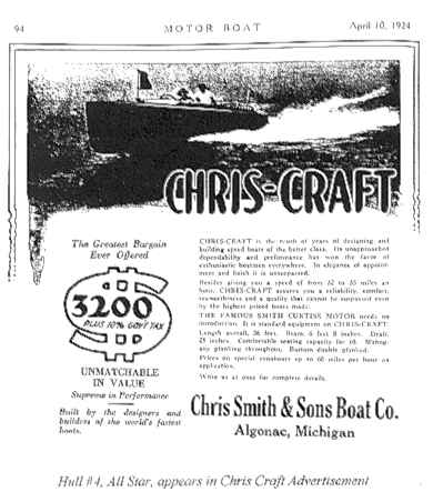 Chris-Craft, the Greatest Bargain Ever Offered