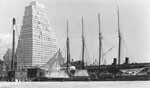 Photograph, Schooner Theoline at Pier 11, circa 1935 by Percy Loomis Sperr
