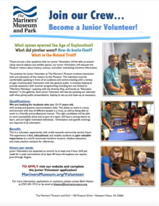 Junior Volunteer flyer