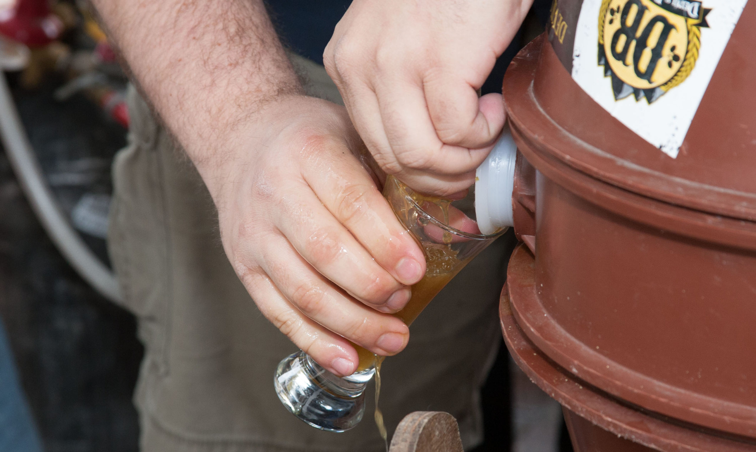 Beer from a cask in 2013 at The Mariners' Craft Beer Festival