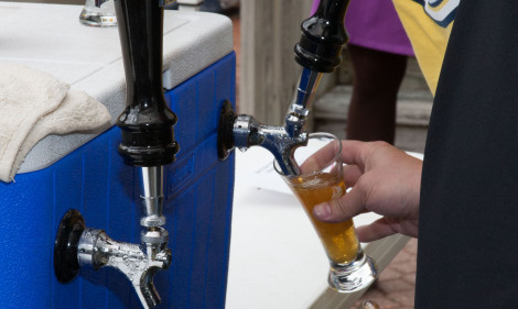 Beer from breweries local, regional and national at The Mariners' Craft Beer Festival in 2013