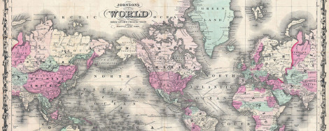 World map, 1862