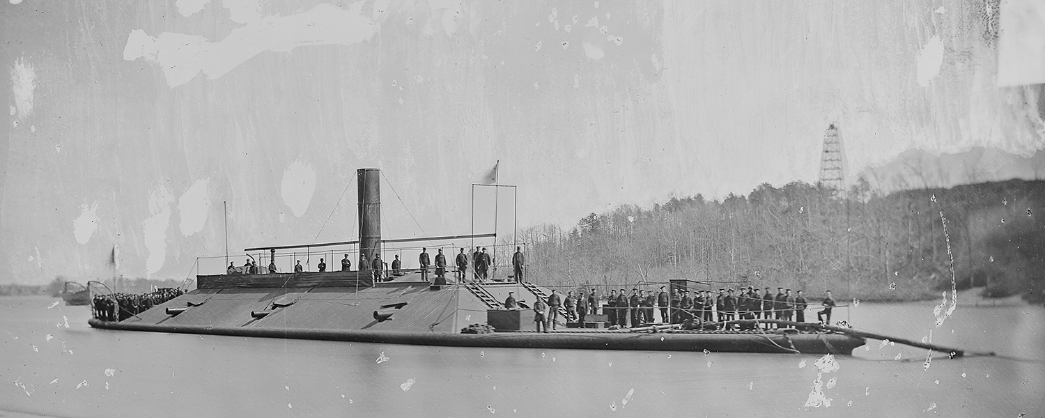 """Atlanta"" (Confederate Ram) on James River after capture"