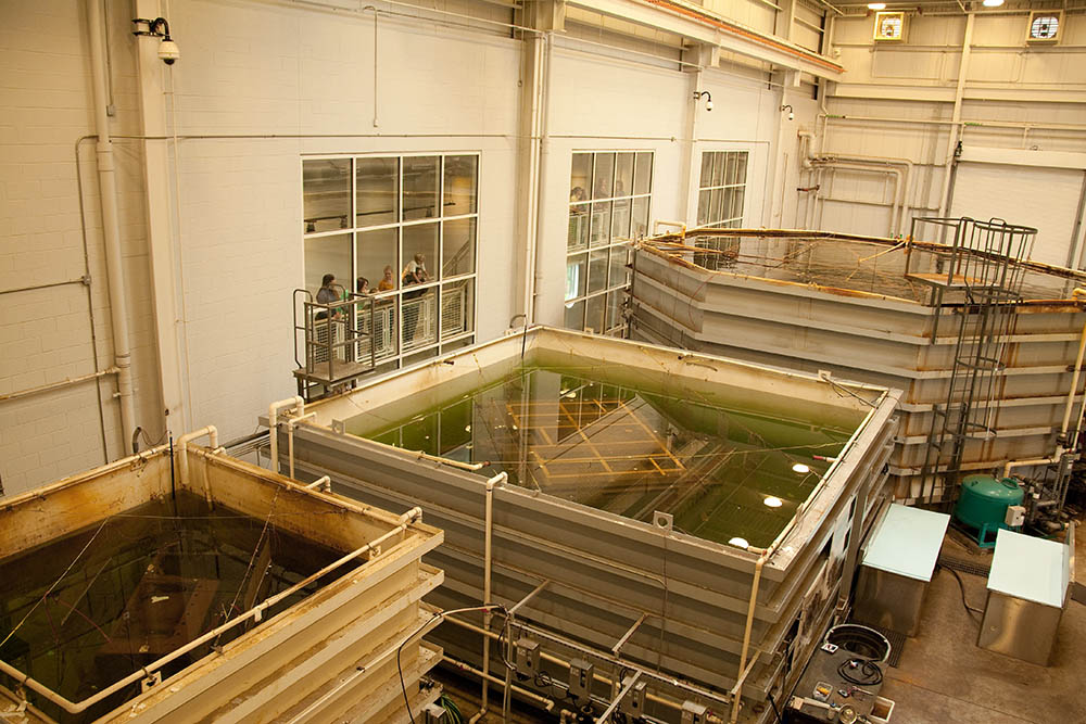 Publicly viewable, these treatment tanks hold the <em>Monitor</em>'s largest artifacts. The Batten Conservation Complex is home to the world's largest marine archaeological metals conservation project.