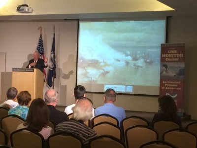John V. Quarstein lectures at The Mariners' Museum and Park
