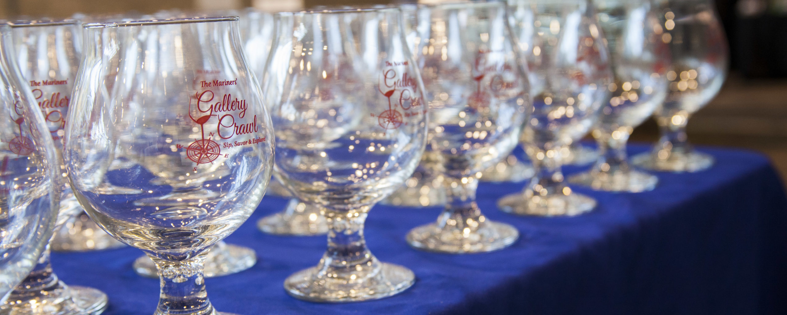The Gallery Crawl souvenir glasses