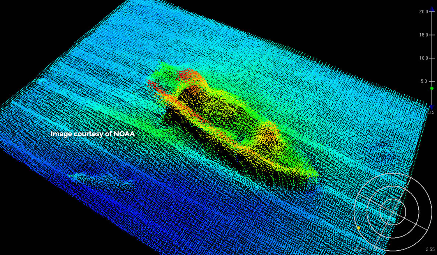 USS <em>Monitor</em> 3-D scan, courtesy of NOAA