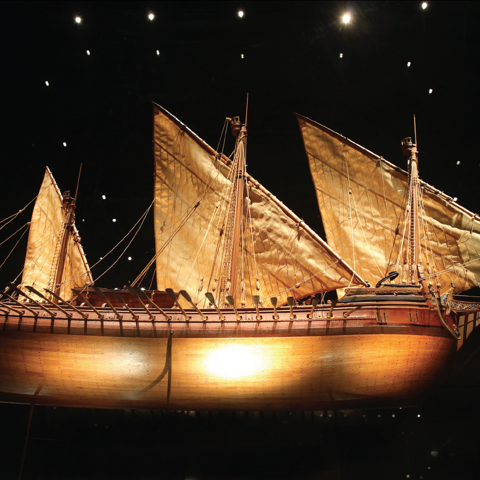 August Crabtree's Venetian Galleass miniature ship