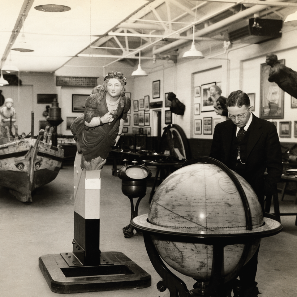 S.B. Besse, at the Museum, circa 1930s