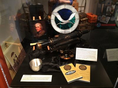 Items in a NOAA's Ark display case