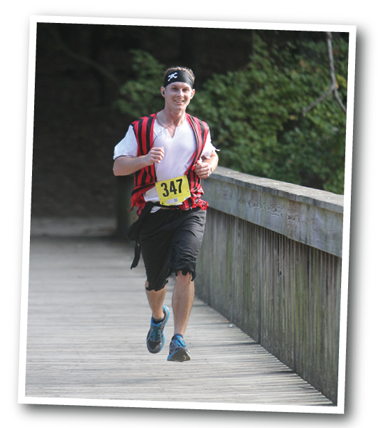 10K runner on the Noland Trail