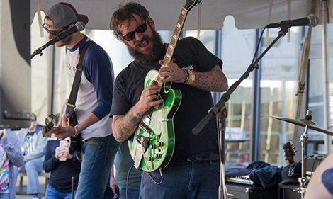 Hey! Hey! Hooligan performing at The Mariners' Craft Beer Festival