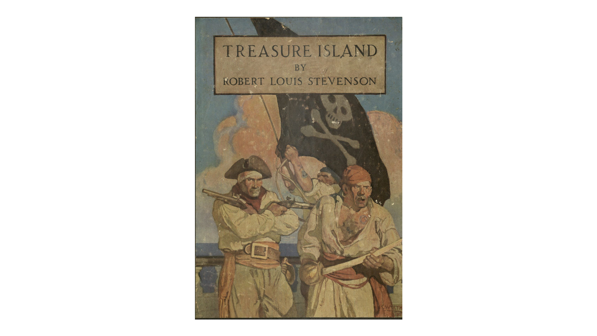 Treasure Island Cover 1911 Rare PR5486.A1  The Mariners' Museum and Park Collection