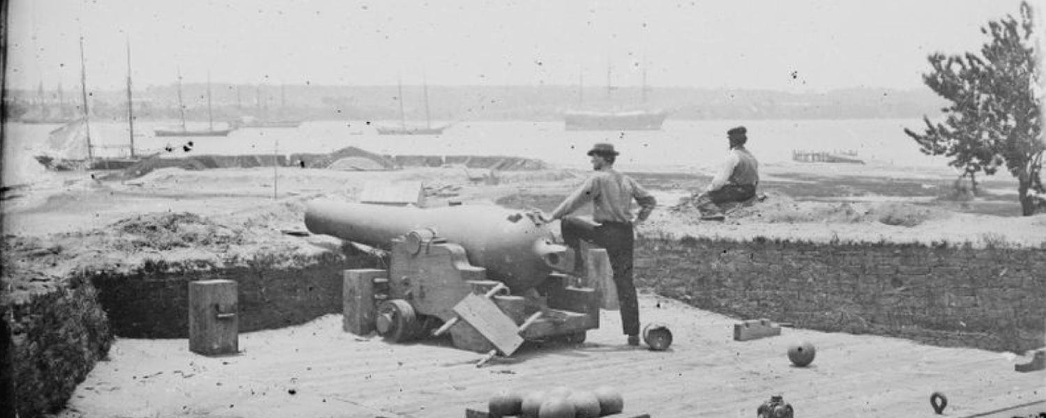 Confederate Fortifications at Gloucester Point, unknown photographer/date, Library of Congress